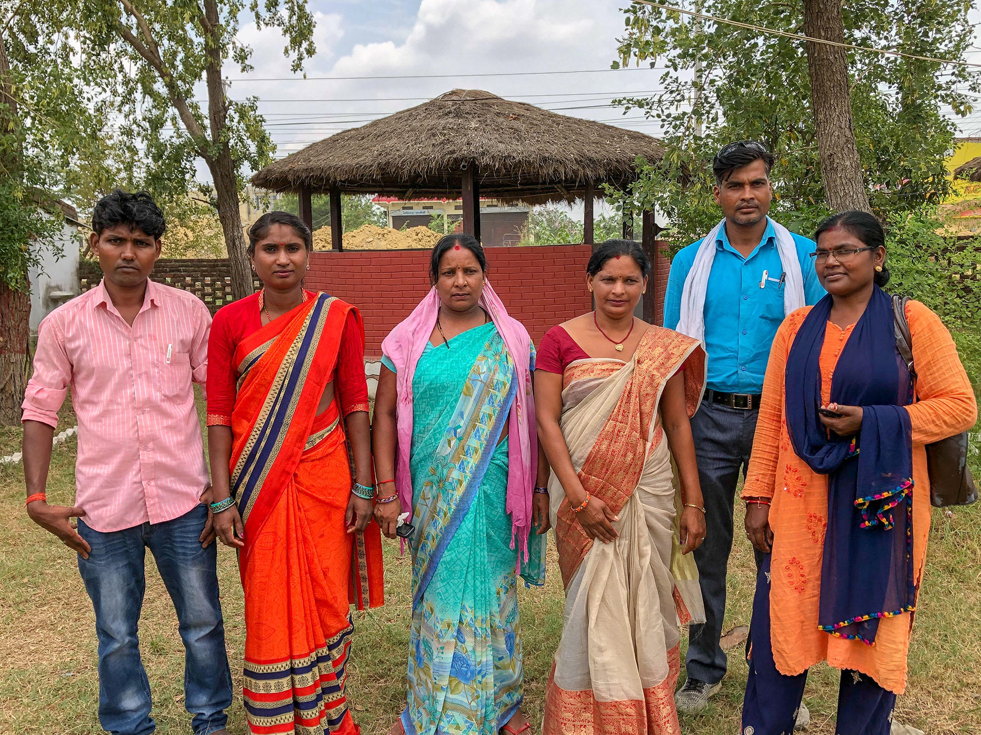 Elected Dalit women and their husband in Katahari palika municipality in Biratnagar.