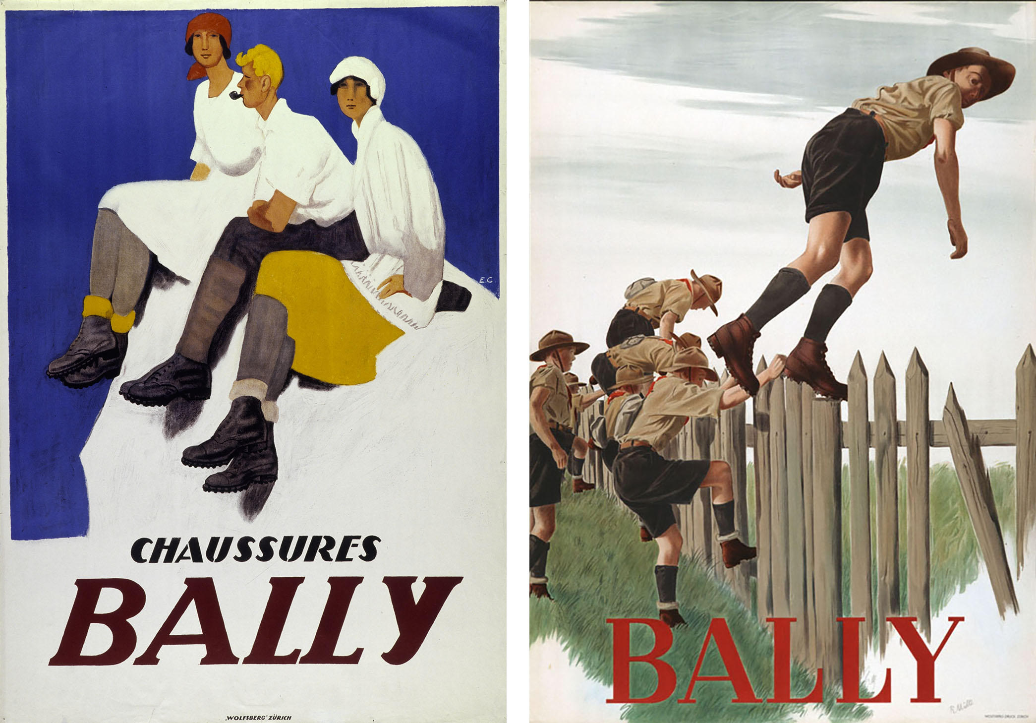 Bally posters (1924 and 1947)
