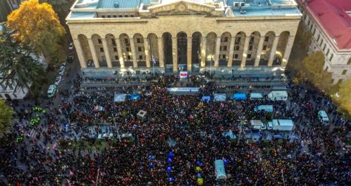 Estados Unidos y la Unión Europea apoyan a los manifestantes en Georgia - swissinfo.ch