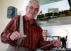 """Pessimism is wearing braces and a belt,"" jokes Claude Nobs, who does without the belt"