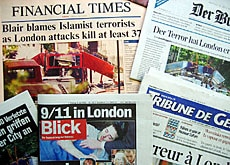 The horror and terror in London are on all the Swiss front pages, as everywhere else