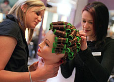 Apprenticeships to become a hairdresser are popular