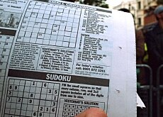 A British sudoku fan killing time and brain cells