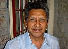 José Parra Gaona, dirigente campesino paraguayo, dictó varias conferencias en Suiza. (swissinfo - sriimg20050819-6020897-0-data