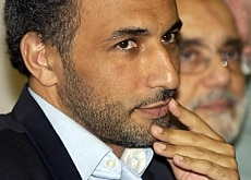 Tariq Ramadan at a news conference last month in London