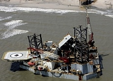 Damage to platforms in the Gulf of Mexico has driven up the price of oil and petrol