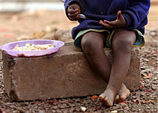 The UN wants to eradicate extreme poverty, as suffered by this orphan in Swaziland, by 2015