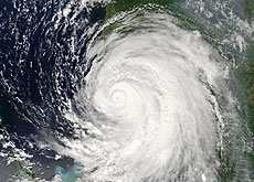 Roch says hurricanes are a clear indication of global warming (Nasa)