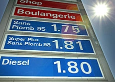 The new levy of 1.5 centimes per litre came into effect on Saturday