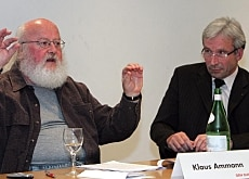 The director of Bern's botanical garden, Klaus Ammann (left), warned that a GMO moratorium in agriculture would be counterproductive