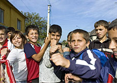 NGOs fear that there could be less money for projects such as this Roma school in Ukraine