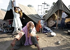Many Pakistanis whose lives were shattered by the earthquake now only have tents to live in