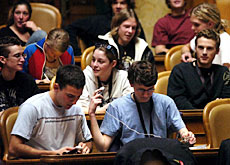 Young people from across Switzerland gathered in Bern for the youth session of parliament