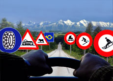 Drivers have to get to grips with Swiss roadside signs