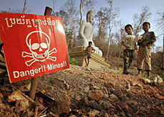 Landmines are still a danger in many countries