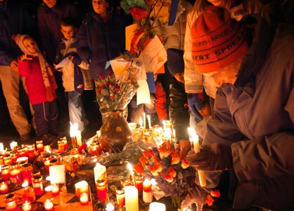 People gathered in Oberglatt to remember the deceased child