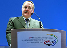 Samuel Schmid said sport's importance goes beyond results