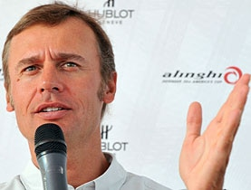 Ernesto Bertarelli speaks during a news conference in August in Genoa, northern Italy