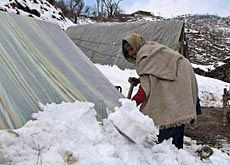 Many people in remote areas live in makeshift shelters