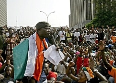 Protest leader Charles Blé Goudé appealed for an end to anti-UN violence