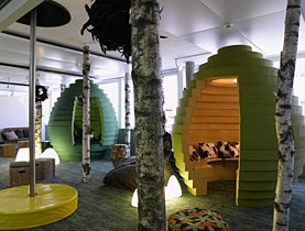 Google takes the informal approach to meeting rooms