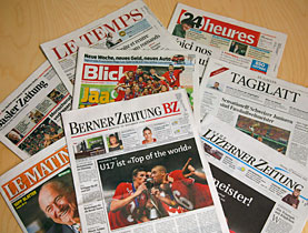 "The Swiss press praised a ""historic"" success"