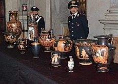 Italy wants the return of objects it considers stolen from the country