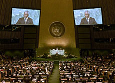 Kofi Annan is in his last year at the head of the UN