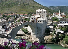 The new Mostar bridge is a symbol of reconstruction in Bosnia
