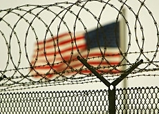 Camp Delta, Guantanamo Bay, where hundreds of detainees are being held by the US