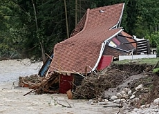 The 2005 floods destroyed many homes in central Switzerland