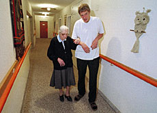 Work in an old people's home is typical of civilian service