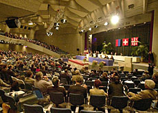 Parliament meeting in Lugano for a spring session in 2001