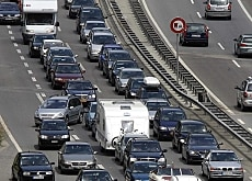 Traffic quickly backs up on the Gotthard motorway during the summer holidays