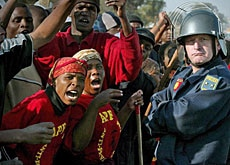 An eviction rally in Johannesburg last year