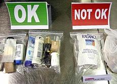 handgepäck durchsichtige behälter