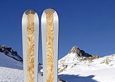 Old school: handmade skis from Disentis in canton Graubünden (zai skis)