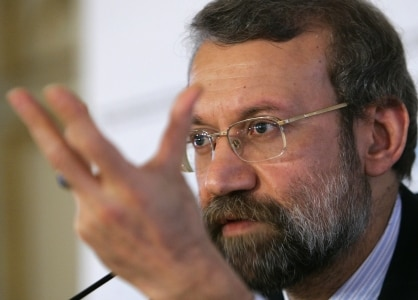 Larijani says the Swiss have a role to play as mediators