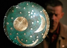 The Sky Disk of Nebra, confiscated by police in Basel in 2002