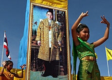 The picture of King Bhumibol is untouchable