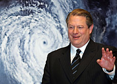 Former US vice-president Al Gore has been hammering home the climate change message