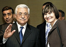 Calmy-Rey and Abbas want to continue dialogue in the Middle East peace process