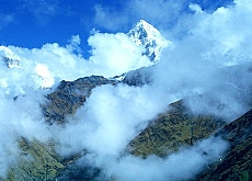 The Annapurna range of mountains has some of the world's highest peaks