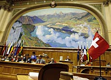 The Organisation of the Swiss Abroad meeting in the federal parliament