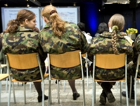 Swiss military service is optional for women. Men have no choice
