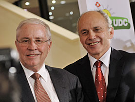 Controversial People's Party double ticket - Blocher (left) and Maurer