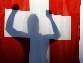 A Swiss fan rejoices