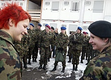Few women are involved in peacekeeping, also in Switzerland