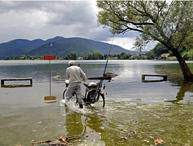 Flooding made life miserable over the weekend in canton Ticino