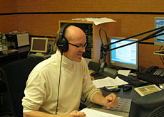 Presenter Pete Forster during his first programme for WRS